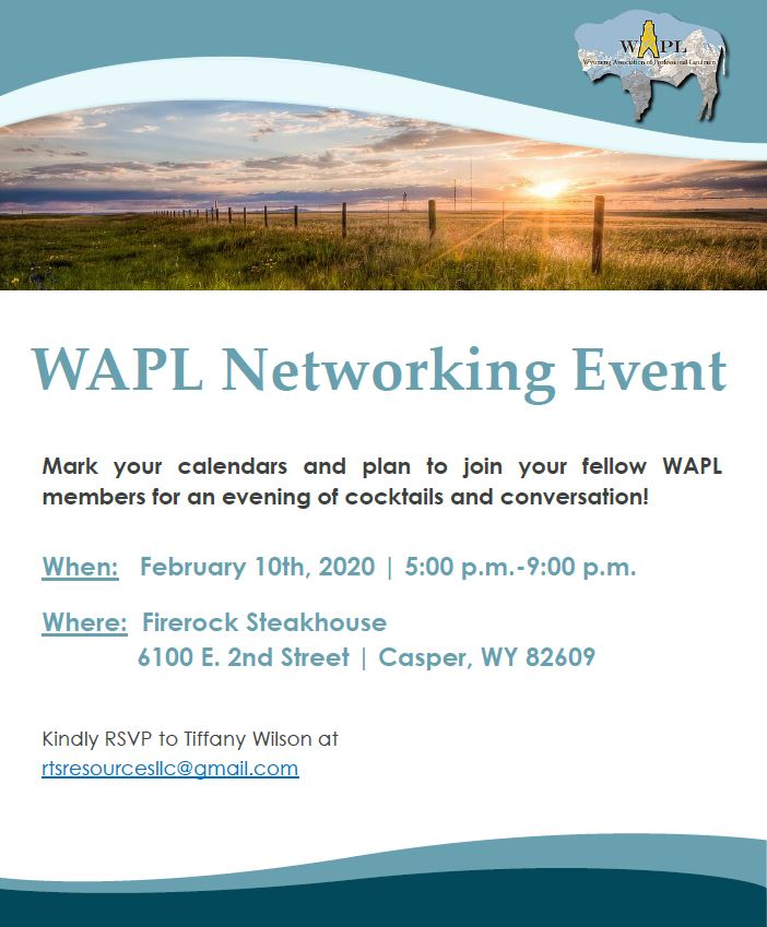 wapl networking event graphic